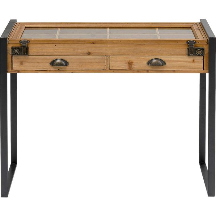KARE DESIGN Collector Nature konsolbord, m. 1 låge og 2 skuffer - grantræ, glas og stål