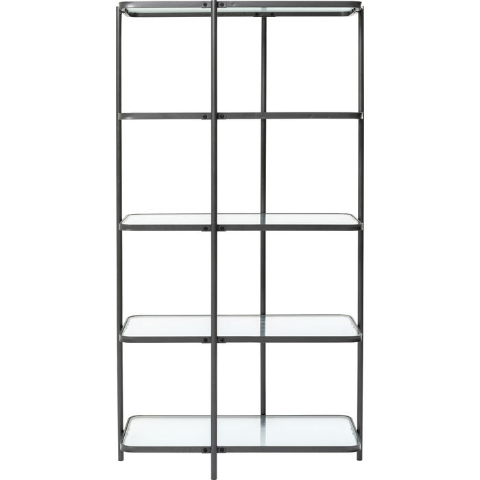 KARE DESIGN rektangulær Modern Art reol - klar glas og stål
