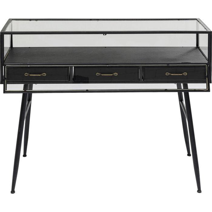 KARE DESIGN rektangulær Display Black konsolbord, m. 1 låge og 3 skuffer - sort (100x46)