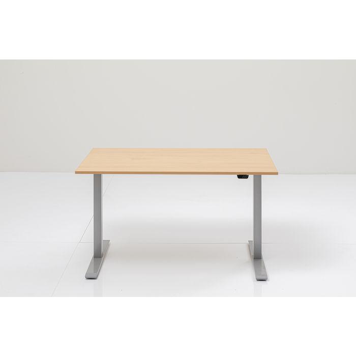 KARE DESIGN rektangulær Office Smart skrivebord - natur MFC og grå stå (160x80)