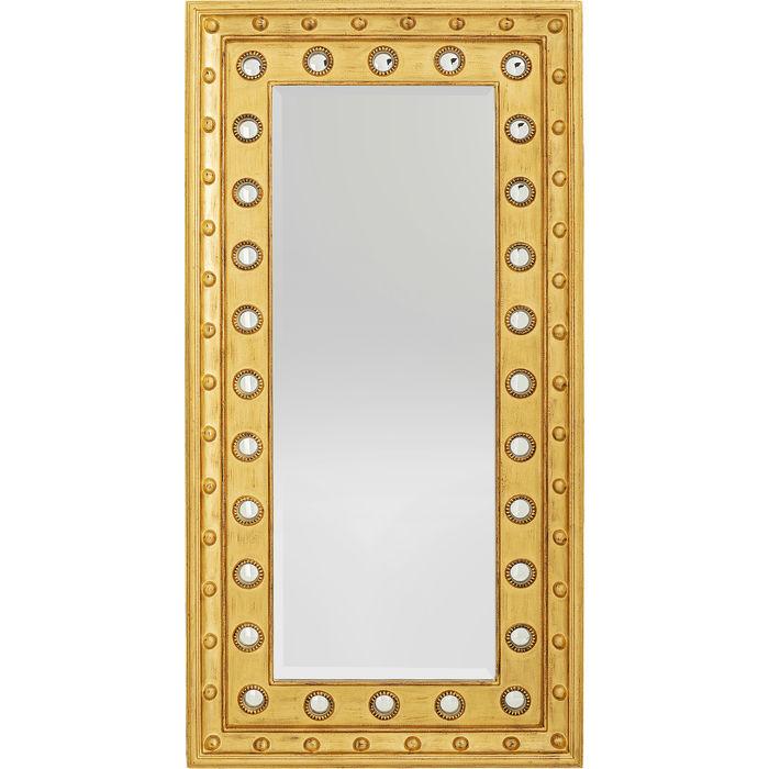 KARE DESIGN rektangulær Royal vægspejl - spejlglas, guld træ og plastik (200x100)
