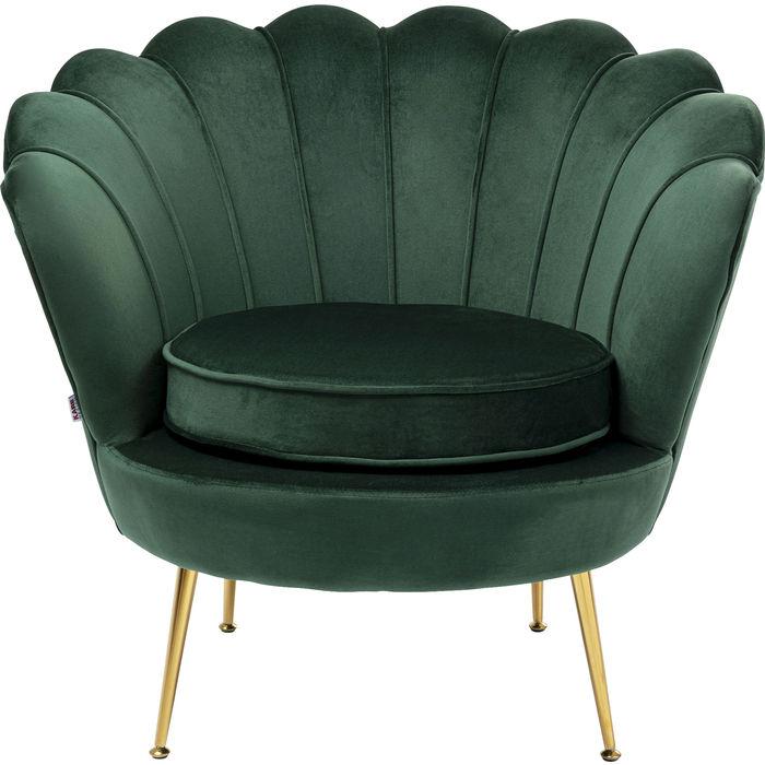 KARE DESIGN Water Lily grøn lænestol, m. armlæn - grøn polyester og stål thumbnail