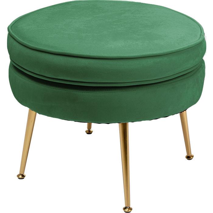 KARE DESIGN Water Lily grøn fodskammel - grøn polyester og stål thumbnail