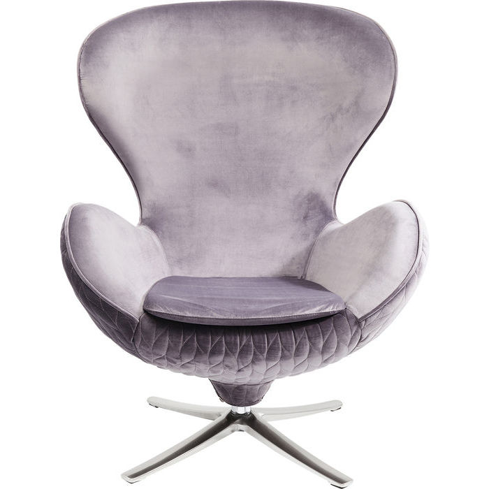 Image of   KARE DESIGN Stol, Swivel Lounge Leaf Grå