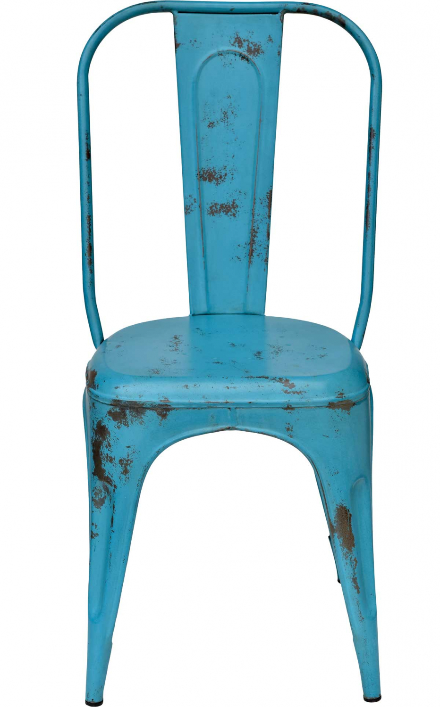trademark living – Trademark living spisebordsstol - blå med patina på boboonline.dk