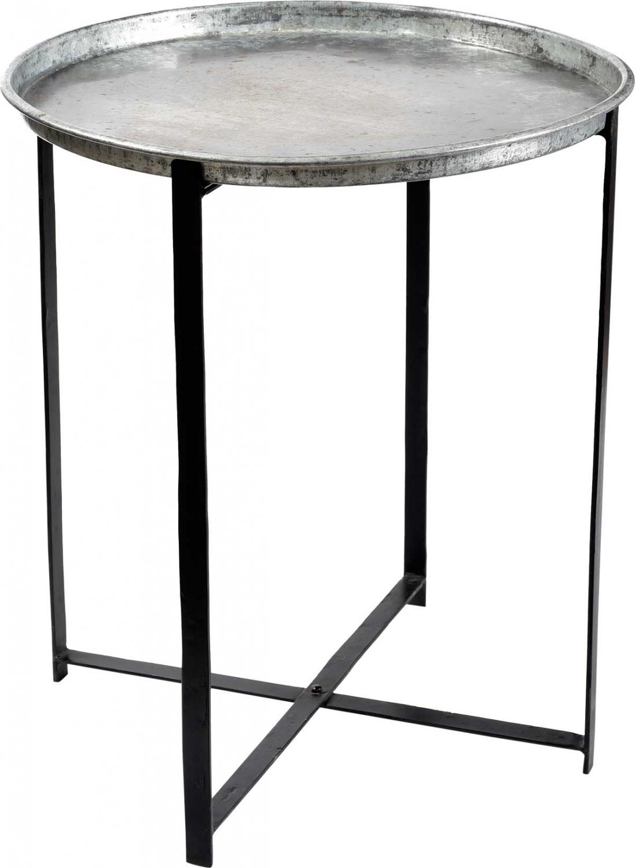 Trademark living rundt bakkebord - zink med patina
