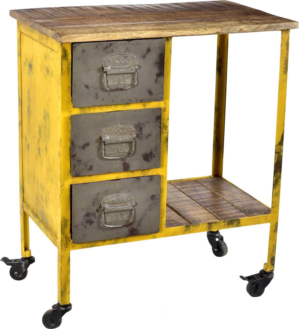 Billede af Trademark Living Cool rullebord med 3 skuffer