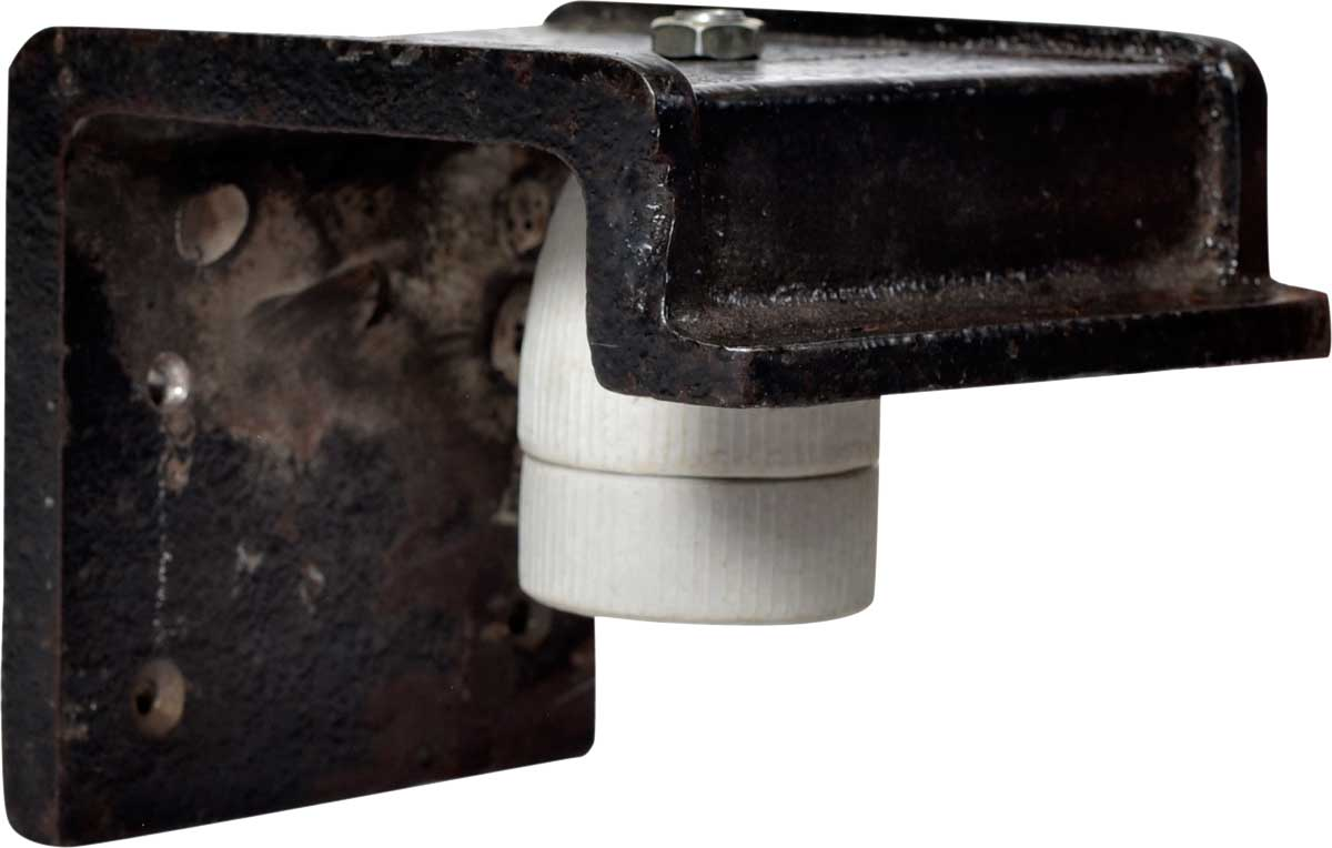 Billede af TRADEMARK LIVING Væglampe i støbejern - sort/cream