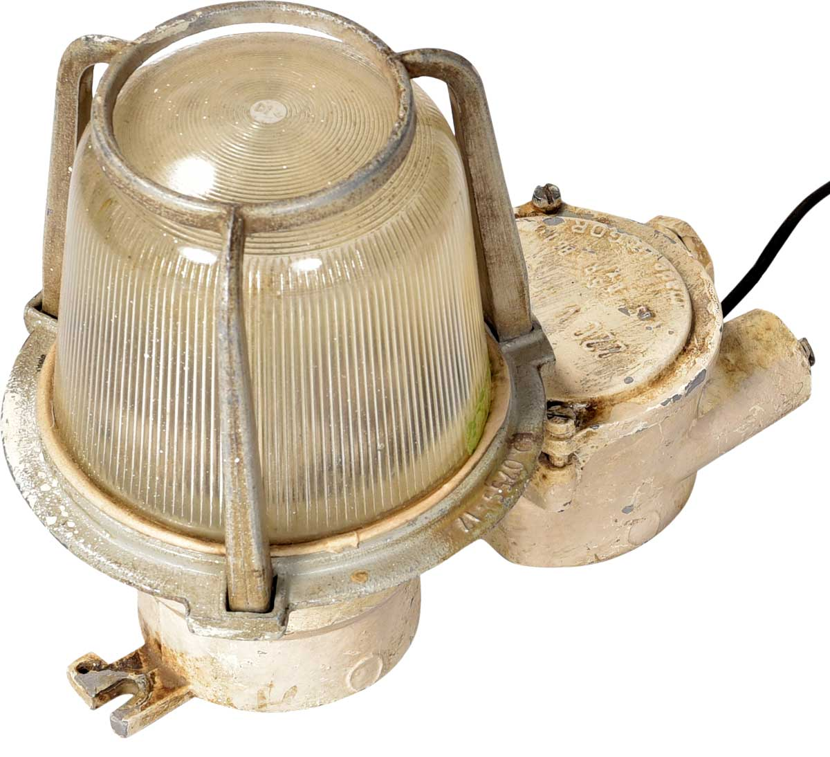 Billede af Trademark Living Rå gammel skibslampe - cream