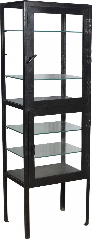 TRADEMARK LIVING Kabinetskab i jern med glas på alle 4 sider