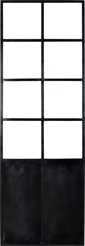 Image of   TRADEMARK LIVING Stor skillevæg i et moderne enkelt design - sort og med glas