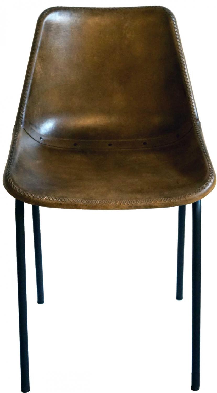 Image of   TRADEMARK LIVING - spisebordsstol m. læder, brun