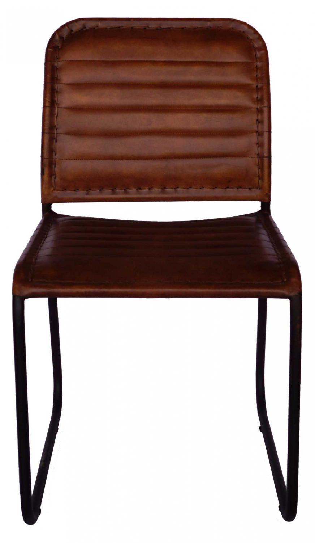 Trademark living læder spisebordsstol - brun