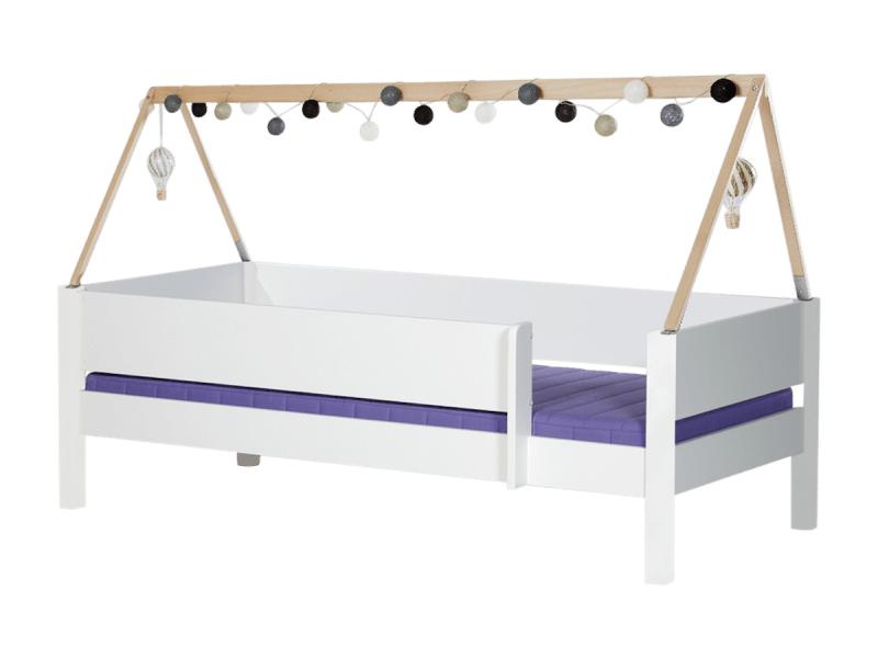 Manis-h brage børneseng - hvid m. sengekant og sengehest (200x90) fra manis-h fra boboonline.dk