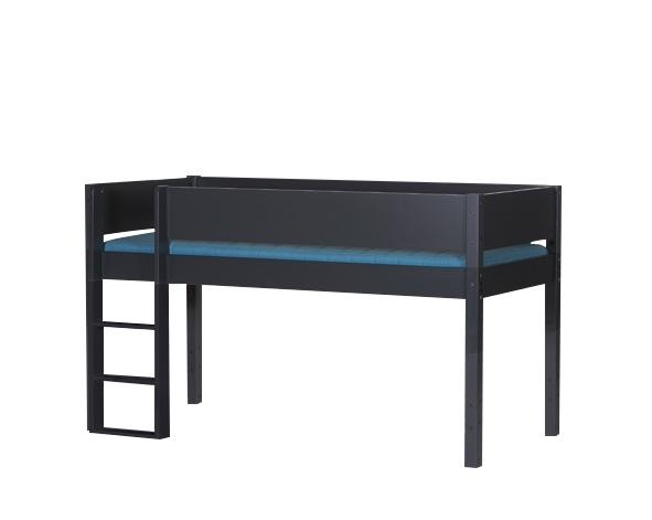 MANIS-H Frej halvhøj seng, antracitgrå (200x90)