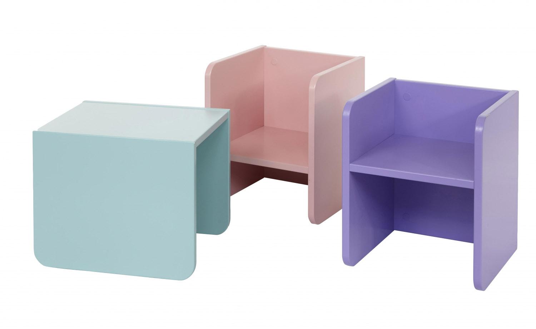 Manis-h 3-i-1 bord/stol rosa fra manis-h på boboonline.dk
