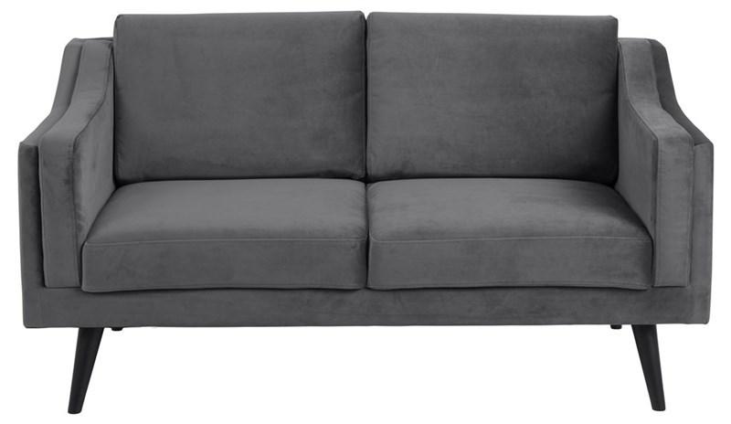ACT NORDIC Montreal 2 pers. sofa - mørkegrå stof og sort gummitræ