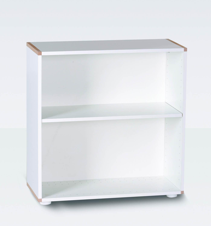 MANIS-H Reol - hvid kvadratisk, m. 1 hylde