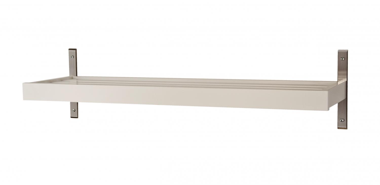 FURBO Nadja skohylde - sort/hvid træ og stål, til væg (B 80) Hvid