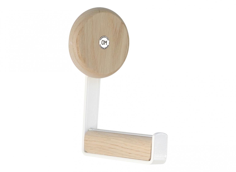 Image of   Furbo Ewo - knage i hvidt stål og træ hvid lak - hvidpigmenteret eg