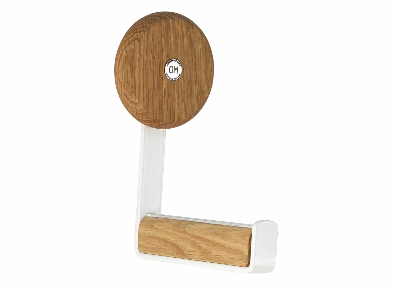 Image of   Furbo Ewo - knage i hvidt stål og træ Lakeret eg