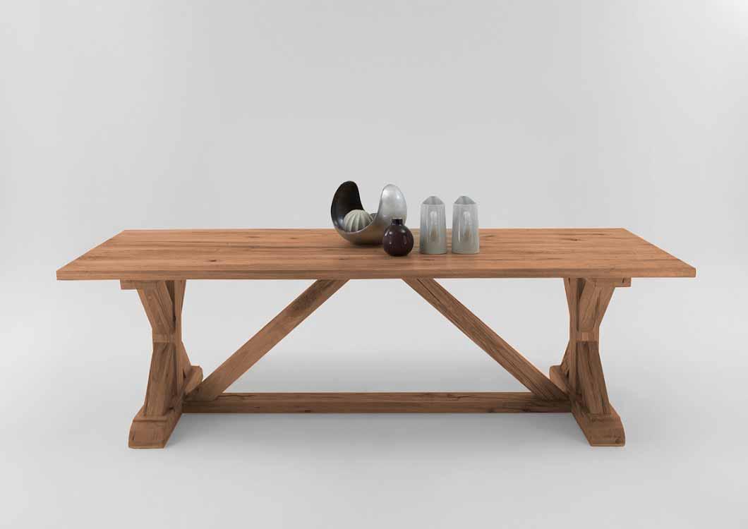 Bodahl versailles plankebord - olieret egetræ 220 x 100 cm fra bodahl på boboonline.dk