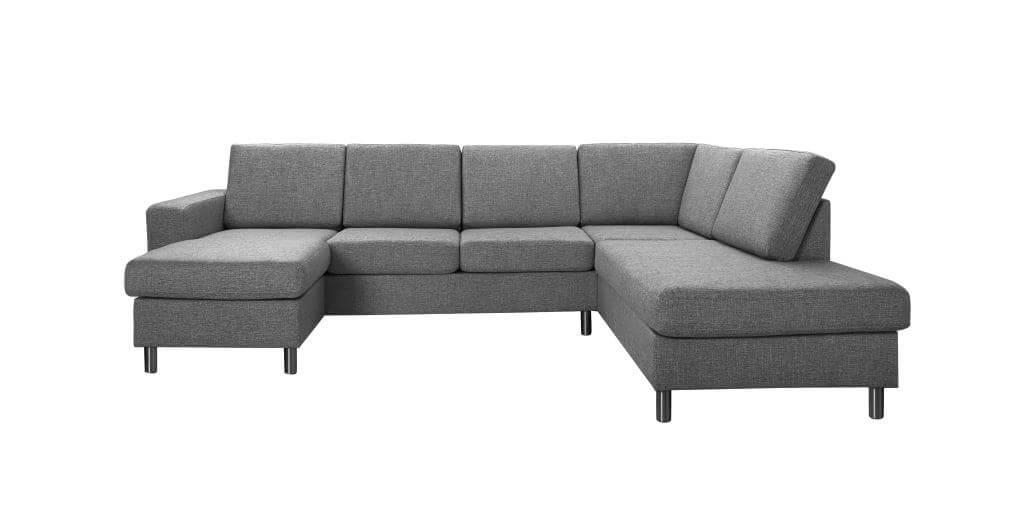 Pisa højrevendt U-sofa - antracitgrå stof