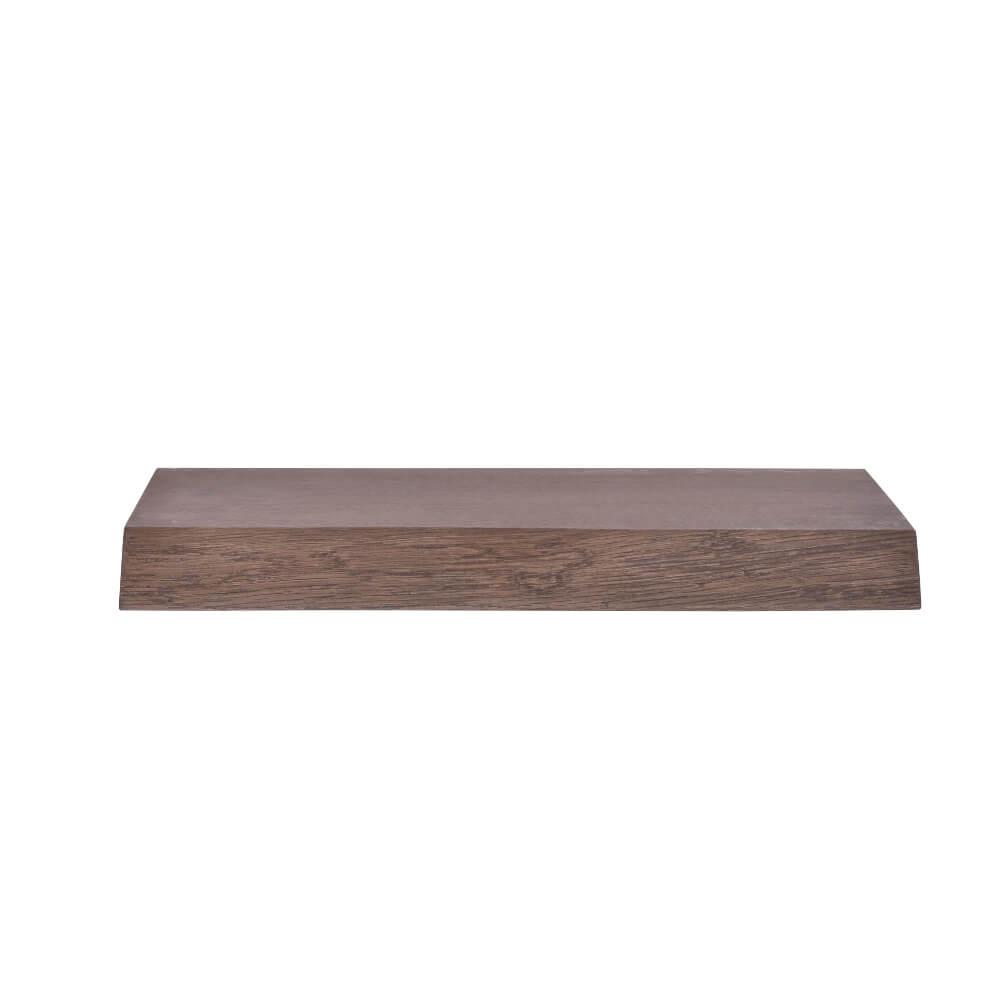 By tika halle svævende plankehylde - røget eg, m. bomkant 60 cm