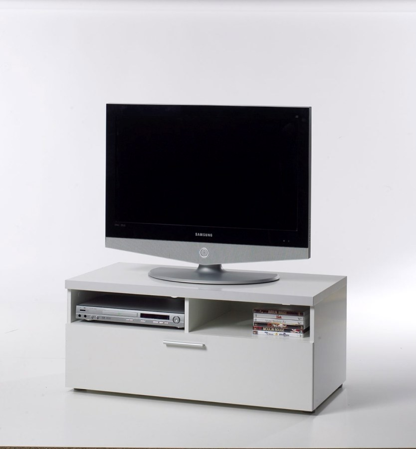 Image of   Napoli TV-bord - Hvidt træ, m. skuffe