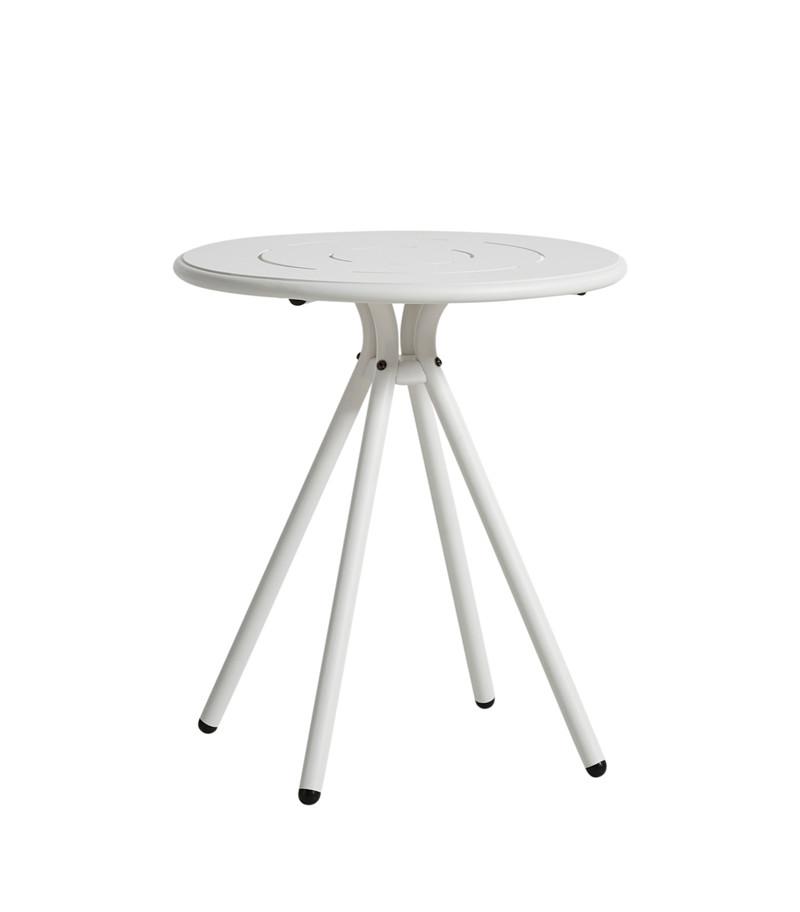 WOUD Ray cafébord - hvid aluminium, rund (Ø65)
