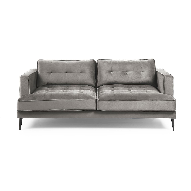 Laforma vinny 3 pers. sofa - grå fløjl og sort stål fra laforma på boboonline.dk