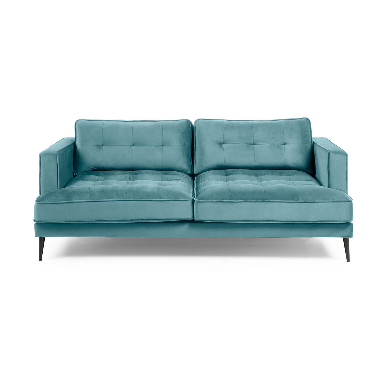 Laforma vinny 3 pers. sofa - turkis fløjl og sort stål fra laforma fra boboonline.dk