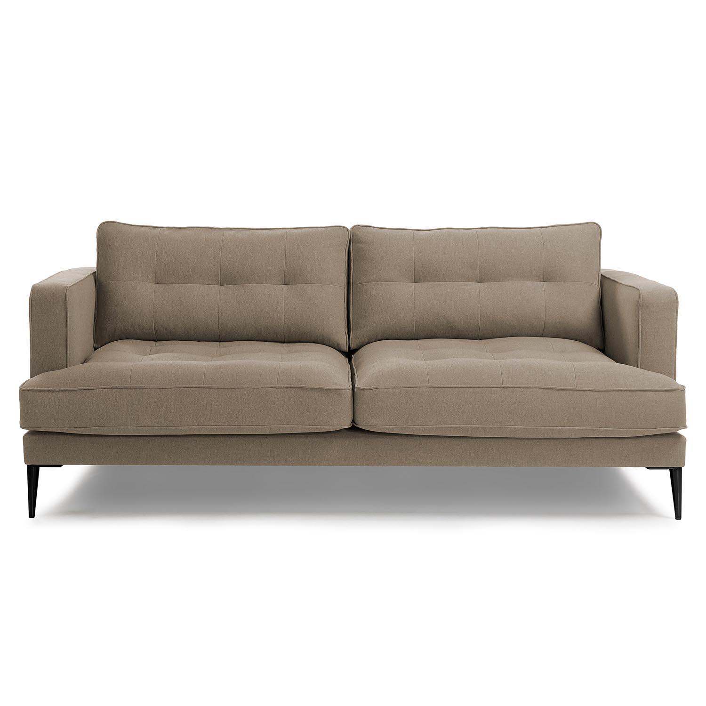 Laforma vinny 3 pers. sofa - lysebrun stof og sort stål fra laforma fra boboonline.dk