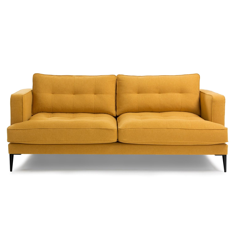 Laforma vinny 3 pers. sofa - sennepsgul stof og sort stål fra laforma på boboonline.dk
