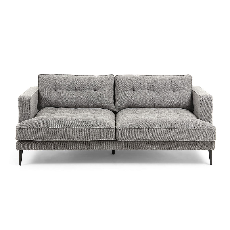laforma – Laforma vinny 3 pers. sofa - grå stof og sort stål fra boboonline.dk