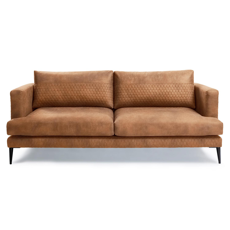 laforma Laforma vinny 3 pers. sofa - rustbrun stof og sort stål fra boboonline.dk