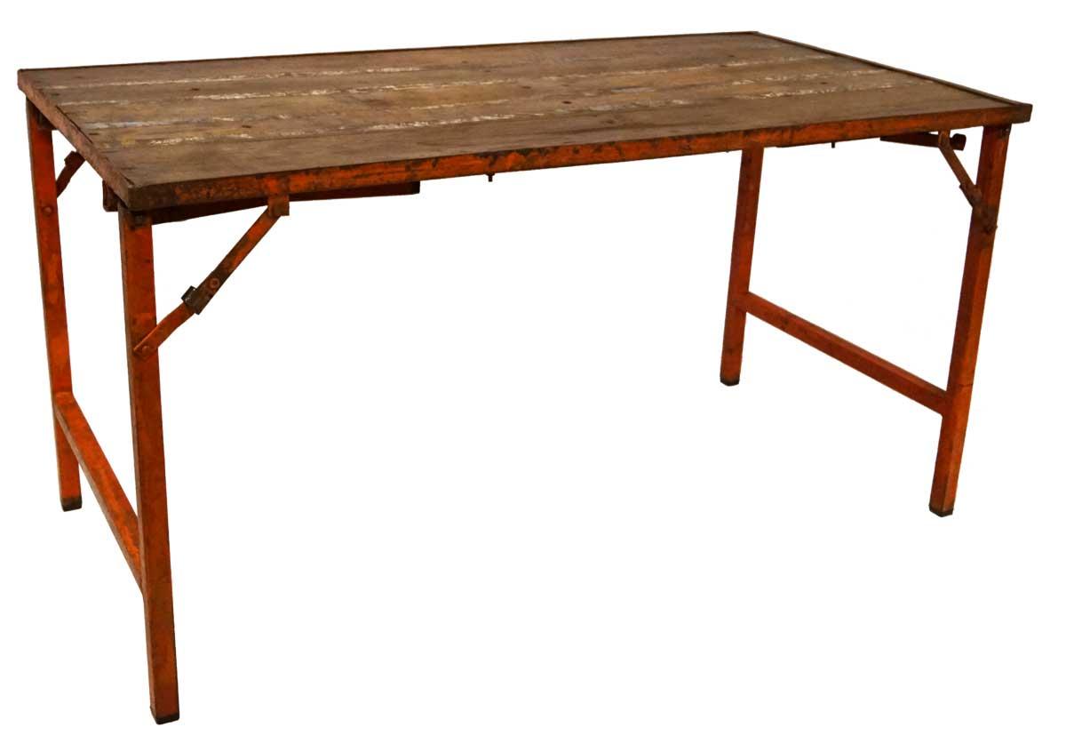 Image of   TRADEMARK LIVING Rustikt gammelt bord med multifunktion - orange