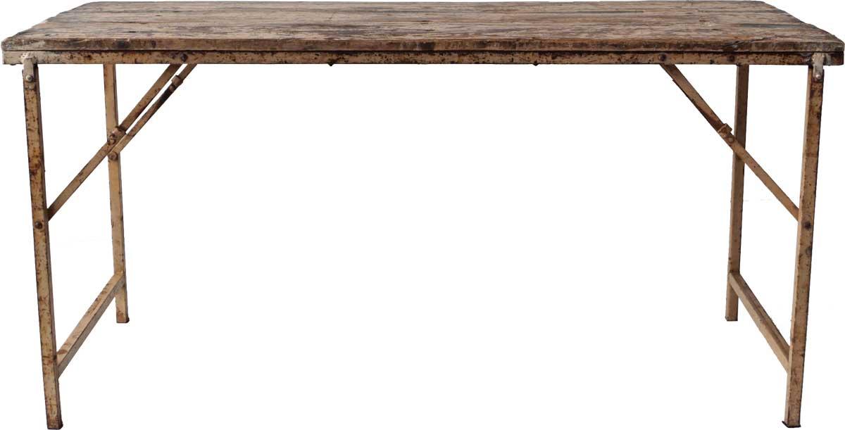 Image of   TRADEMARK LIVING Lækkert spisebord med træbordplade og jernstel