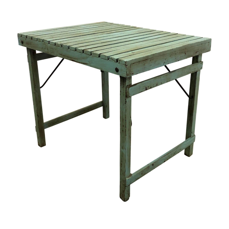 SJÄLSÖ NORDIC bord - lyseblå genbrugstræ, rektangulær (90x70)