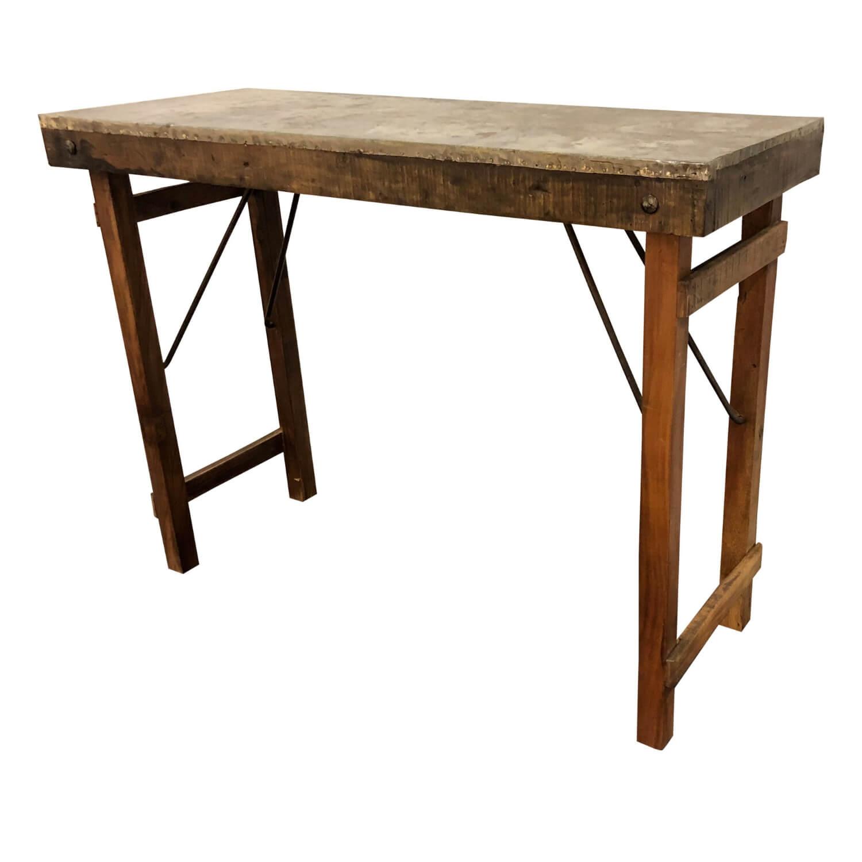 SJÄLSÖ NORDIC konsolbord - brun genbrugsmetal/genbrugstræ (100x40)
