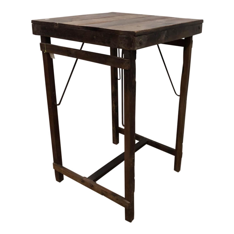 SJÄLSÖ NORDIC barbord - brun træ, kvadratisk (70x70)