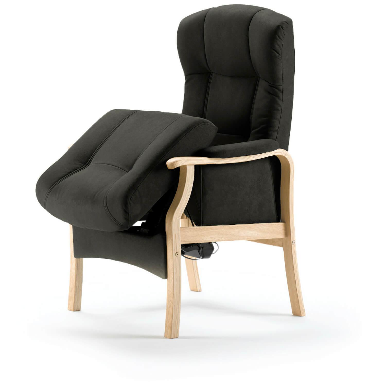 nordic-c – Nordic-c sorø medium seniorstol med elektrisk sædeløft og rygmotor, eksl. skammel - grafitgrå på boboonline.dk
