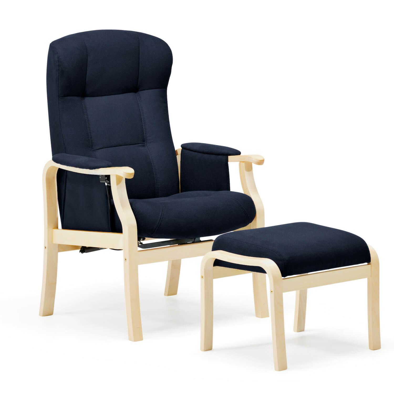 Nordic-c sorø standard seniorstol, eksl. skammel - mørkeblå fra nordic-c fra boboonline.dk