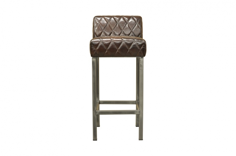 BODAHL Stacey barstol, bøffellæder, Antik mørkebrun thumbnail