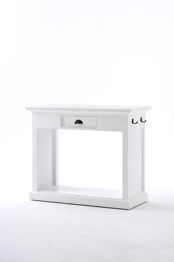 NOVASOLO Halifax spisebord - hvid m. to stole med hynder