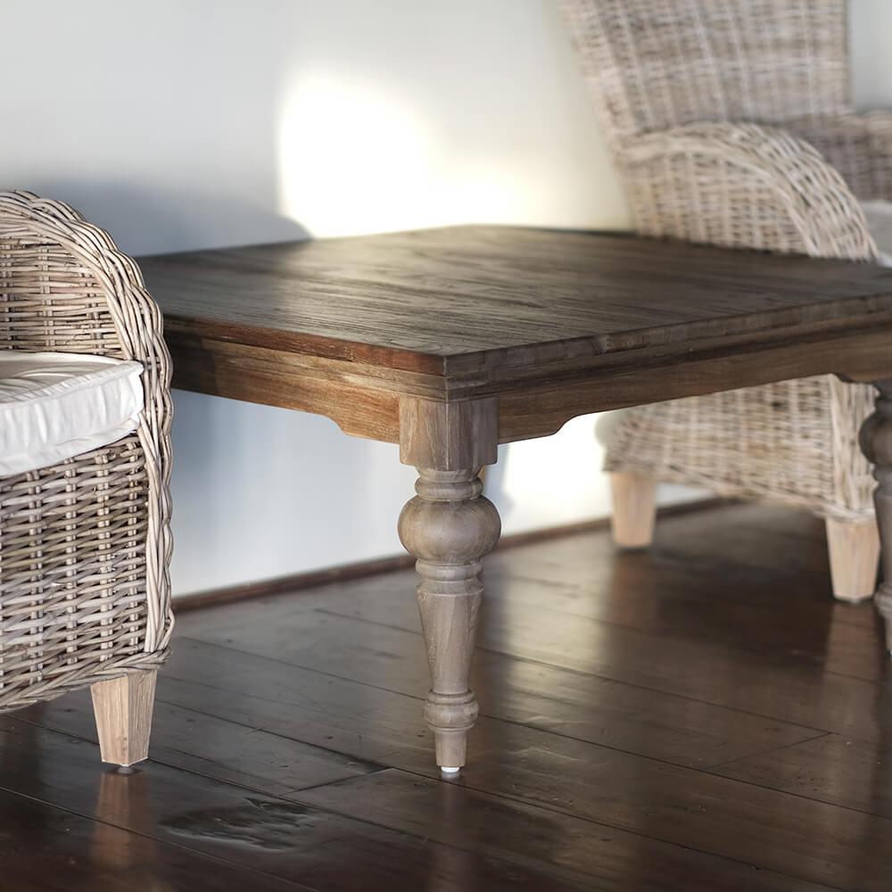 "NOVASOLO ""Hygge"" firkantet sofabord teaktræ (100x100)"