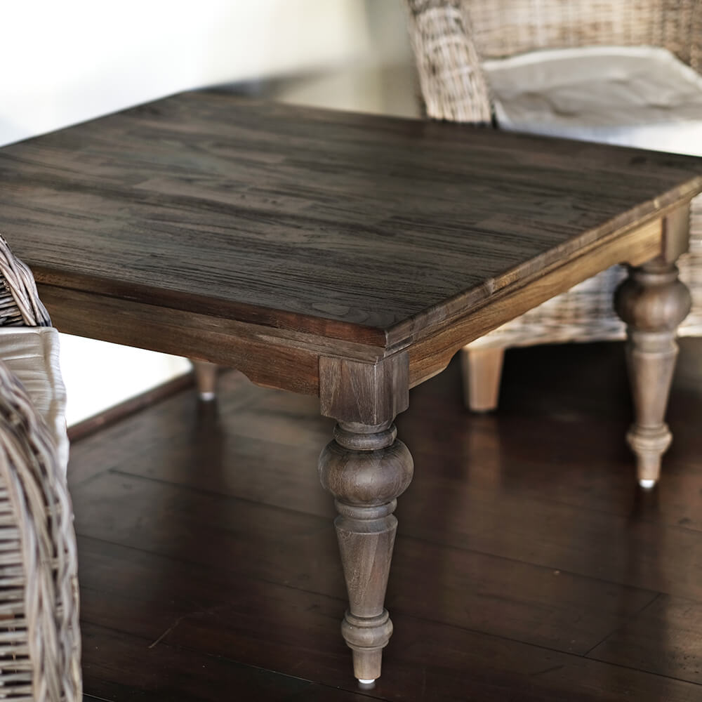"NOVASOLO ""Hygge"" firkantet sofabord teaktræ (70x120)"