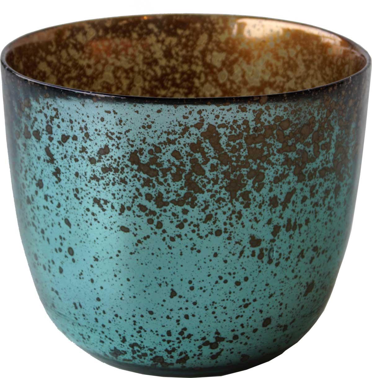 trademark living – Trademark living smuk stor vase i fine farvenuancer - kobber og grøn på boboonline.dk
