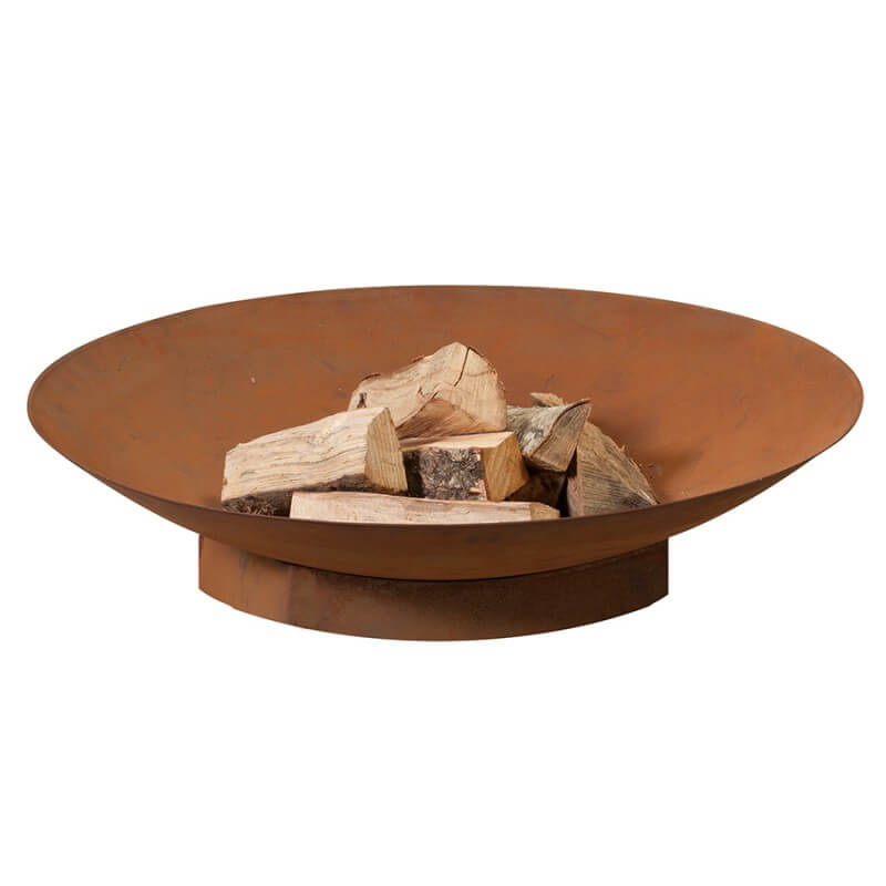 HEAT Schalen bålfad - rust farve i stål, Ø:90 thumbnail