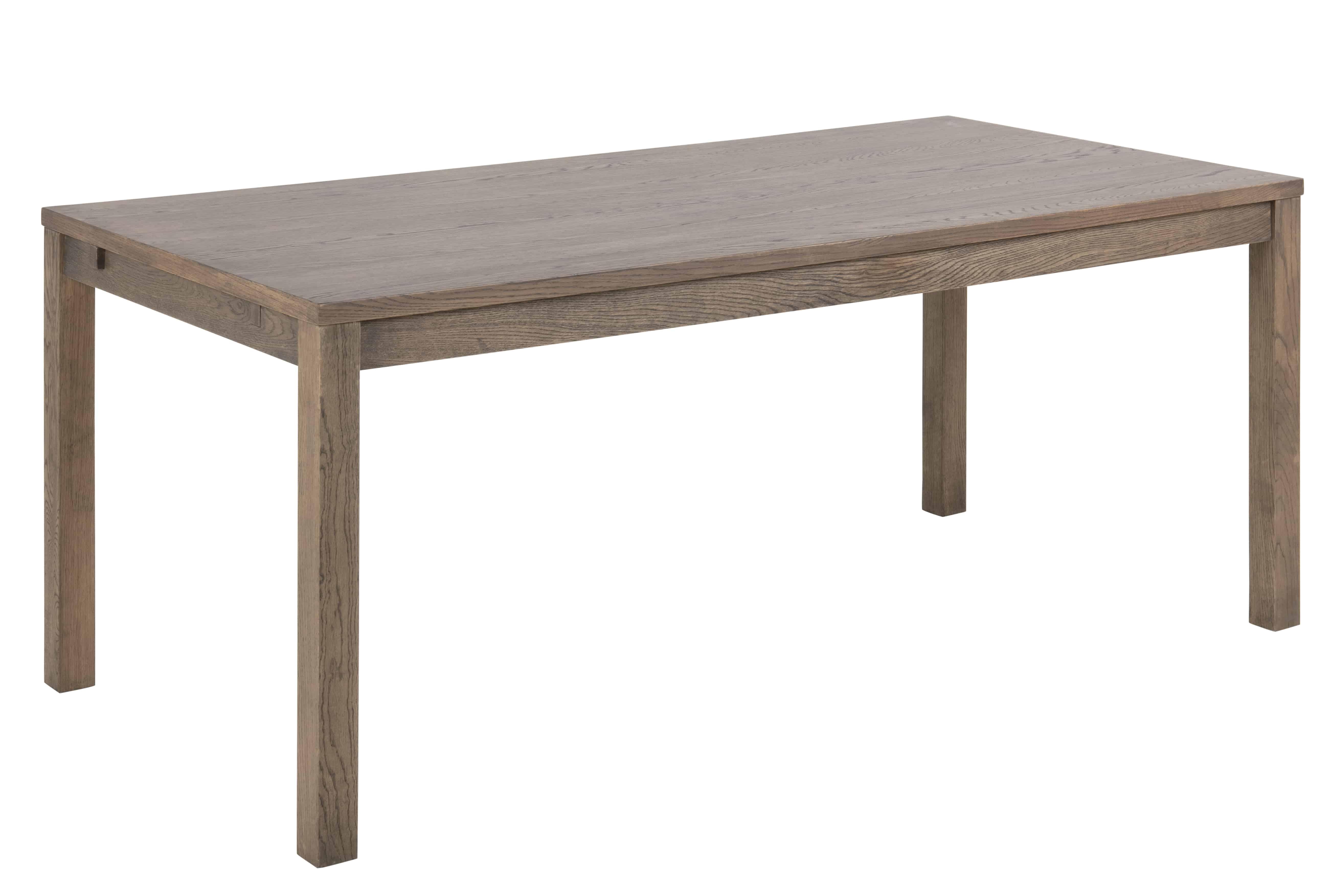 Brentwood spisebord - natur egetræsfinér, m. udtræk (180x90)